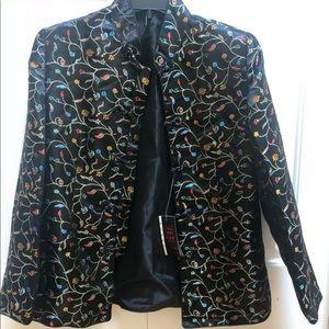 🥰👜❤️satin Brocode dress jackets & matching bag